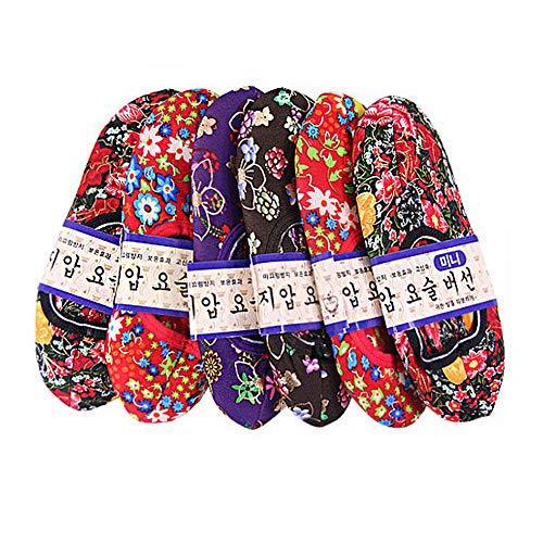指圧ポソン 6足セット韓国 花柄モコモコ靴下 ショート