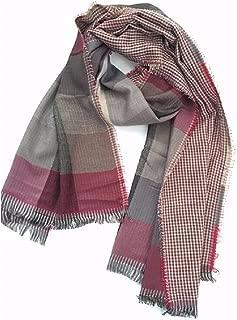 Howely Mens Plaid Tassel Fall Winter Scarves Knit Warm Super Soft Scarf