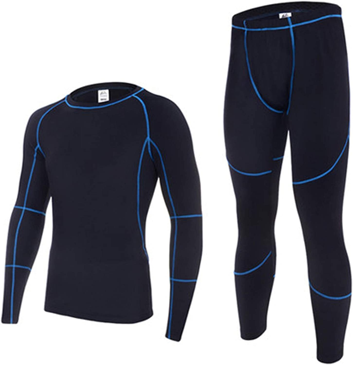 Thermal Underwear Sets Men Fleece Long Johns Thickening Breathable Tights