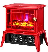 YYAI-HHJU Calentador De Estufa Eléctrico - Estufa Portátil con Estufa De Leña Efecto De Llama - Estufa De Chimenea Calentador Interno -1500W Rojo
