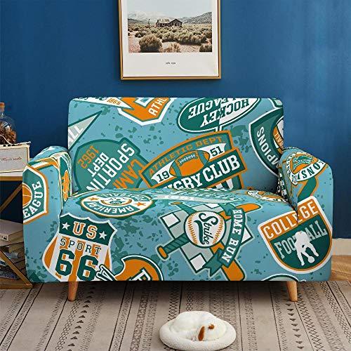 3D Imprimir Funda de Sofá Elástica Funda Sofá Gruesa Antideslizante, Cubierta Sofa Muebles con Cuerda de Fijación Antideslizante Protector de Muebles (Viajar, 2 Plazas )