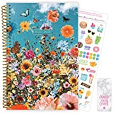 """bloom daily planners 2020-2021 Academic Year Day Planner Calendar (July 2020 - July 2021) - 6"""" x 8.25"""" - Weekly/Monthly Agenda Organizer Book with Stickers & Bookmark - Wildflowers"""