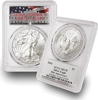 2016 1 oz American Silver Eagle $1 MS70 PCGS Make America Great Again (MAGA) .999 Fine Silver US Mint