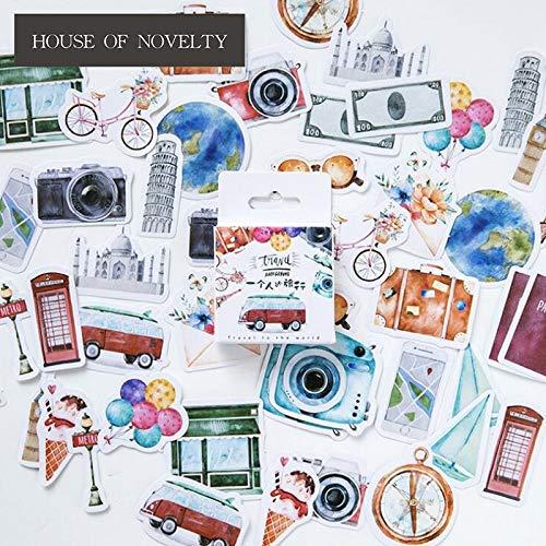 BLOUR Eine Person Reisedekorative Aufkleber Klebende Aufkleber DIY Dekoration Tagebuch Schreibwaren Aufkleber Kinder Geschenk