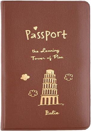 joyliveCY 1pc 3colores Simple y bolsa de utilidad de soporte de documentos titular del pasaporte de viaje protectora de cuero ID tarjeta de identificación
