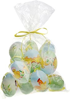 Celebrate the Home Hand-Painted Plastic Easter Egg Set, Blue Chicks