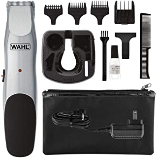Wahl Groomsman Corded or Cordless Beard Trimmer for Men - Rechargeable Grooming Kit for Facial Hair - Hair Clipper, Shaver & Groomer - Model 9918-6171, Silver