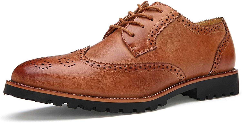 shoes Men's Business Oxford Casual Retro Comfortable Fashion Classic Belt Solid color Brogue shoes Leather shoes