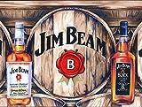 Hslly Jim Beam Beer Blechschilder Dekoration Vintage Metall