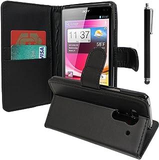 VCOMP Lot Pack skärmskydd för Acer Liquid Z5 Duos – svart + pekpenna