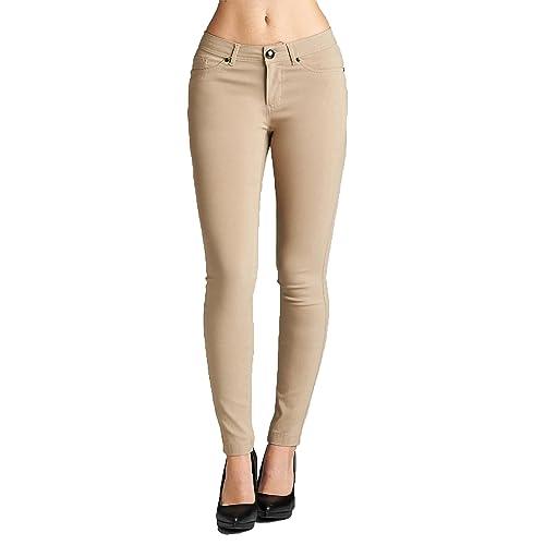 0f31650416d49 Emmalise Women's Basic Jean Look Jeggings Tights Spandex Skinny Leggings  Bottoms