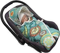 MoMika Premium Velvet Mandala Unisex Einschlagdecke   Wickeldecke   Babyschlafsack   Babydecke für Buggy oder Autositz   Wickeldecke mit Kapuze Green