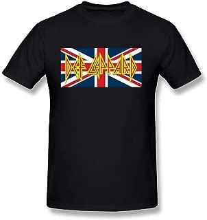 Pop Rock Band Def Leppard Tour 2016 Logo Mens T Shirt Black