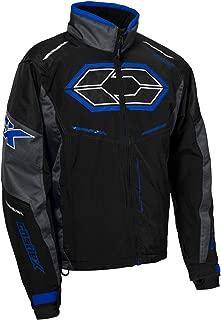 Castle X Blade G4 Men's Snowmobile Jacket - Black/Charcoal/Blue (2XL)