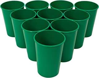 Sponsored Ad - CSBD Stadium 12 oz. Plastic Cups, 10 Pack, Blank Reusable Drink Tumblers for Parties, Events, Marketing, We...