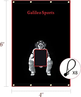 GALILEO Vinyl Backstop with Target Batting Cage Back Stop Heavy Duty Baseball/Softball/Soccer/Football Backstop Practice Equipment for Outdoor/Indoor Sports