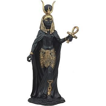 "Ebros Egyptian Goddess Hathor Statue 11"" H Deity of Motherhood Joy Love and Feminism"