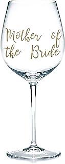 'Mother of the Bride' Decalcomanie adesive in vinile, adesivi per bicchieri, tazze, cancelleria. Vino, birra. Regalo di ma...