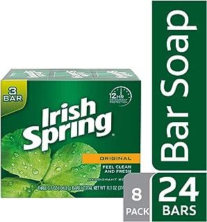 Irish Spring Original Deodorant Bar Soap, 3.7 Ounce, 3 Count (Pack of 8)
