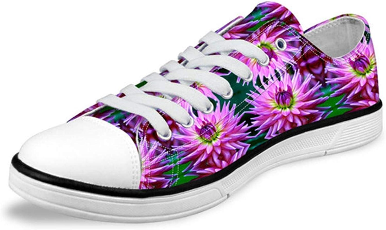 Carolyn Jones Women Low Top Canvas shoes Classic Female Flower Pattern Vulcanized Sneakers Cc3115Ap 10.5