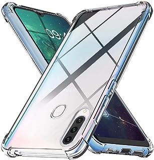 WJMWF Kompatibel med Samsung Galaxy A20S-Fodral [Två Skärmskydd] 360 ° Stötsäker Skal i Heltäckande Kristall Mjuk TPU Sili...