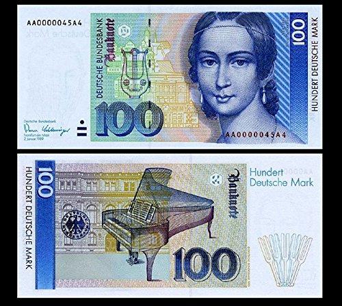 *** 2 Stück 100 Deutsche Mark Geldscheine 1989 Alte Währung - Reproduktion ***