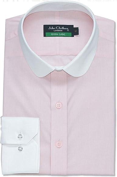 Camisa Hombre Cuello Penny Banqueros Redondo Rosa Oficina ...