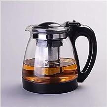 HJW Nuttige waterkoker helder glas theepot met verwijderbare thee-infuser voor bloeiende en losse blad thee magnetron en k...