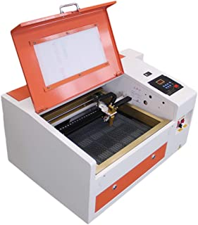 TEN-HIGH CO2 engrave machine, 40W 300x400mm Laser Engraving Machine with Exhaust Fan USB port