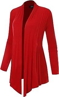 BH B.I.L.Y USA Women's Light Sweater Fabric Asymmetric Hem Open Front Long Cardigan