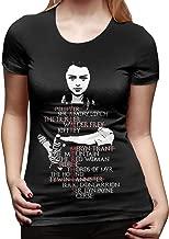 STDONE Women's Sexy Tee Arya Stark Valar Morghulis Arya's Kill List Game of Thrones Funny T Shirt Black