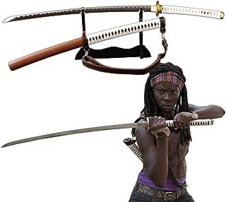 Walking Dead Michonne Samurai Sword Handmade Japanese Katana Manganese Steel Blade