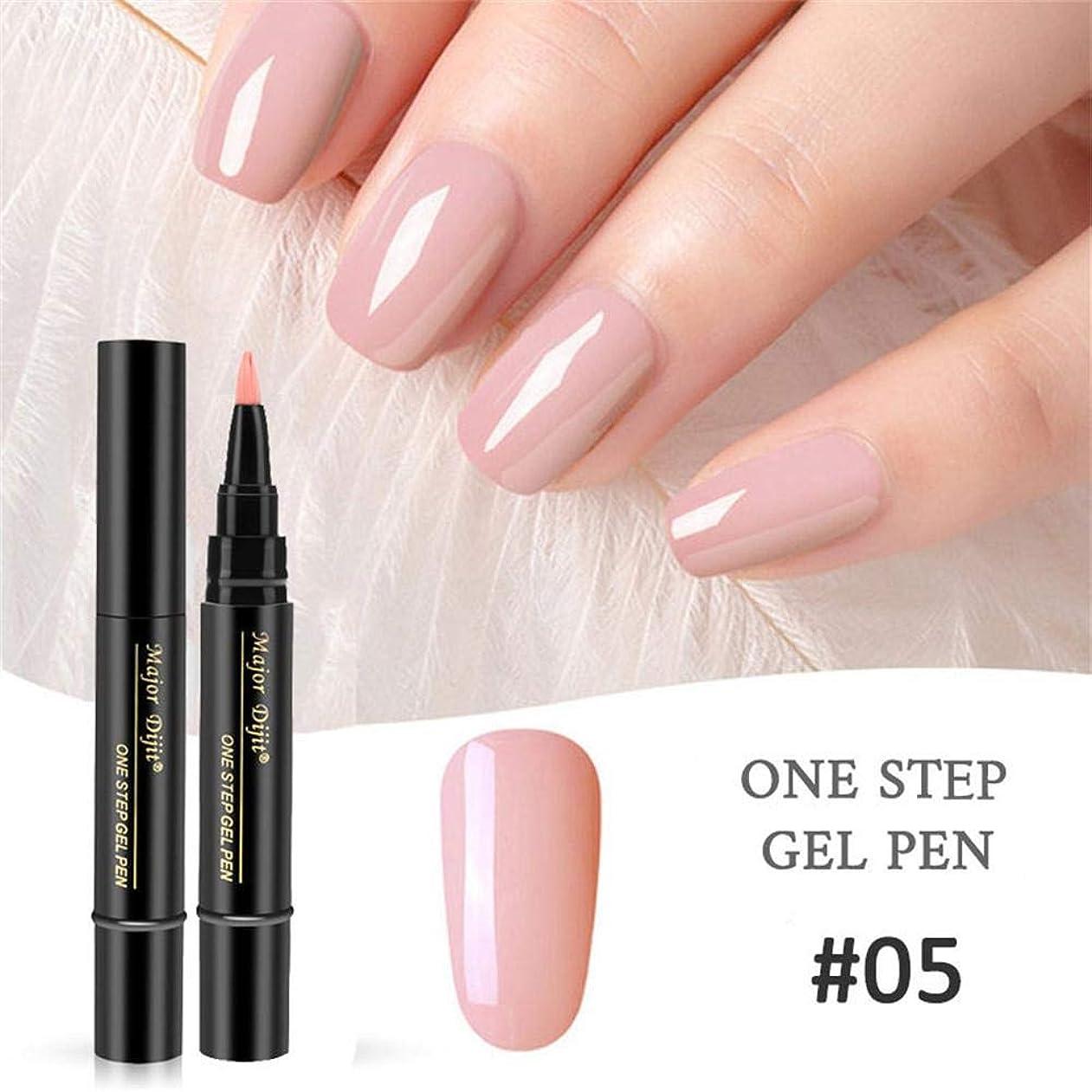 思春期の歌手吸収Mimoonkaka ネイルカラー ネイルジェル ペイント ワニスペン ステップ ネイル UV ジェルを使用する 完璧 簡単 1セット3PC