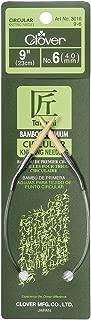 CLOVER Bamboo Circular Knitting Needles Takumi, 9-Inch Size 6