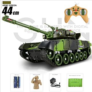 Ycco 1:72 Mini German Tiger Military Panzer Remote Control Main Battle Tank 360° Flip Stunt RC Simulation Light Sound Rotating Turret and Recoil Action Crawlers Chariot Stunt Car Hobby Toy for Boys