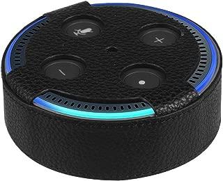 【STISpeed 】Amazon Echo Dot (Newモデル)PU レザー本体上部 室内 カバースリーブスキン 保護ケース カバー 黒