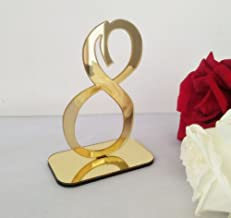 RUIXUAN Acrylic Mirror Table Numbers, Wedding Table Number with Holder, Wedding Table Numbers Set, Wedding Table Decor, Mi...