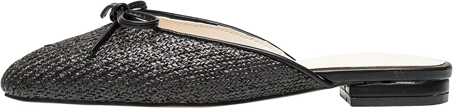 AnnaKastle Womens Woven Backless Loafer Slipper Flat Sandals