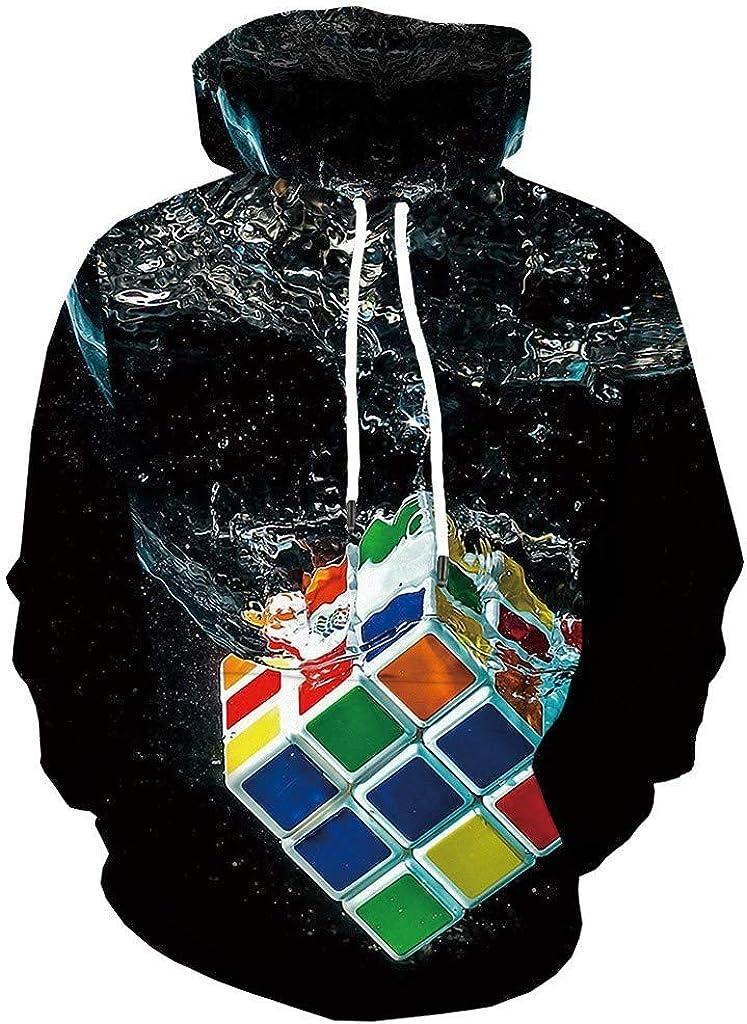 Hoodies for Men, Misaky Causal 3D Digital Printing Sweatshirt Long Sleeve Hooded Plus Size Top