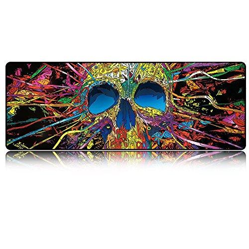 Doer マウスパッド、大きなゲーム用マウスパッド、防水マウスパッド 布製 防水 滑り止 光学式マウス 対応 #1 Skull [8451]
