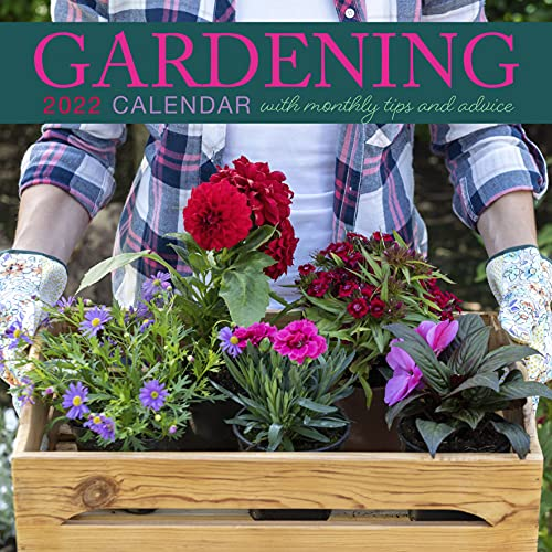 2022 Flowers Gardening Botanical Square Hanging Wall Calendar with Garden Tips and Advice. Daily, Weekly, Monthly 12 Month Planner, Calendar, Family, Schedule, Agenda, Organiser