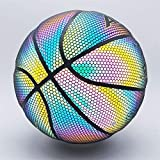 YZPXDD Holographiques Glowing réfléchissant Basketball - Light Up Flash d'appareil Photo Phosphorescent Basketballs - Cadeaux Hoop Jouets for Les Enfants et garçons - Parfait Toy (Couleur : B)