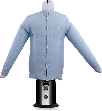 Oneconcept ShirtButler Clean Edition - Secador de Camisas automático, 2 en 1: Seca y Plancha, Maniquí de Planchado, Aire frío y Caliente, Easy-Dry, ...