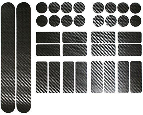Finest-Folia Carbon Schwarz Fahrrad Aufkleber Rahmen Schutz Folie MTB BMX Ketten Streben