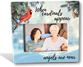 BANBERRY DESIGNS Memorial Photo Frame – When Cardinals Appear Angels are Near..