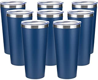 COKTIK 30oz Tumbler 8 Pack Stainless Steel Travel Coffee Mug with Lids Double Wall Insulated Coffee Cup for Home, Office, ...