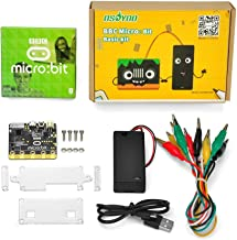 OSOYOO Micro-Controller with Motion Detection, Compass, LED Display and Bluetooth Basic Kit Learn Programming for BBC Micro:bit for Kids and Beginners (Not Include 2X AA Batteries )