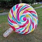FGA Juguetes para bebés Juguetes inflables de la Fila Flotante de la piruleta, Anillo Flotante de la natación del Anillo de natación de la Cama Flotante Adulta de los niños Juguete, 200x150x25cm