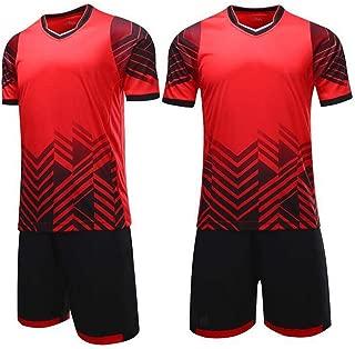 MaxxCloud Soccer Goalkeeper Football Short Sleeves Jersey & Shorts for Mens Kids