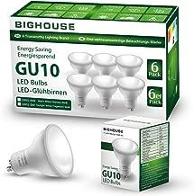 BIG HOUSE GU10 LED Light Bulbs, 5W, 400lm, 3000k Warm White, 50W Halogen Bulbs Equivalent, 120° Beam Angle (Pack of 6) [Energy Class A+]